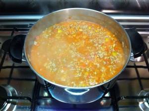 Chili con carne - ebollizione